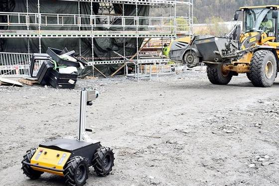 Självkörande robot! – Mäter bygget mot arkitektens ritning