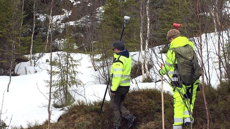 Lantmätare från Gävle snyggar till gränsen mot Norge