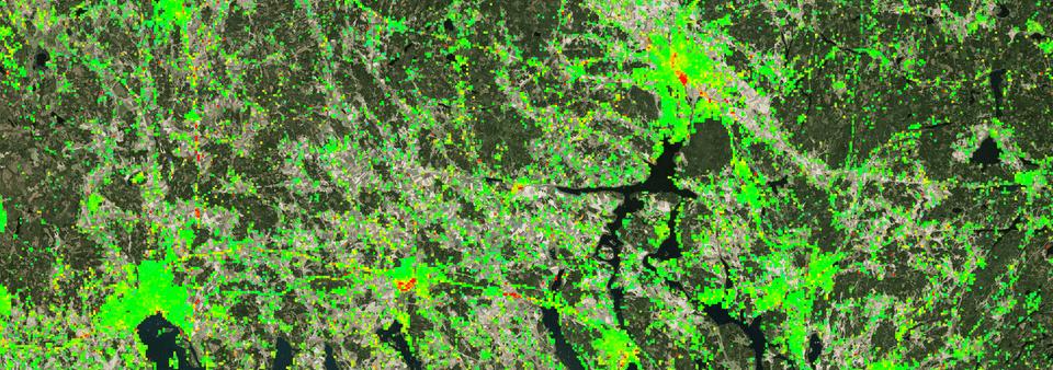 Information om sättningar i marken blir tillgänglig via ny karttjänst
