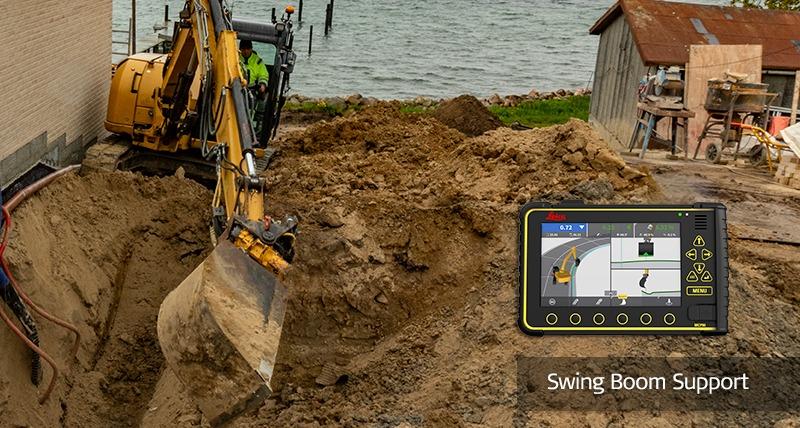 Leica Geosystems lanserar 3D-lösning för maskinstyrning för kompaktgrävare och traktorgrävare med svängbom